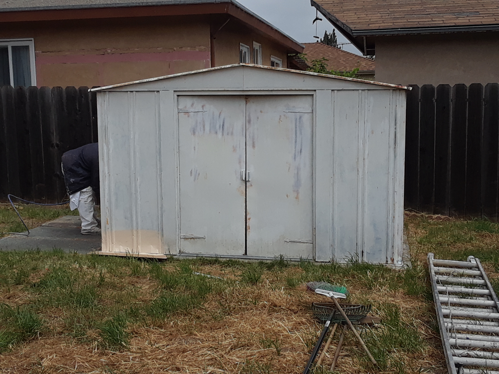 Before | Exterior Metal Shed