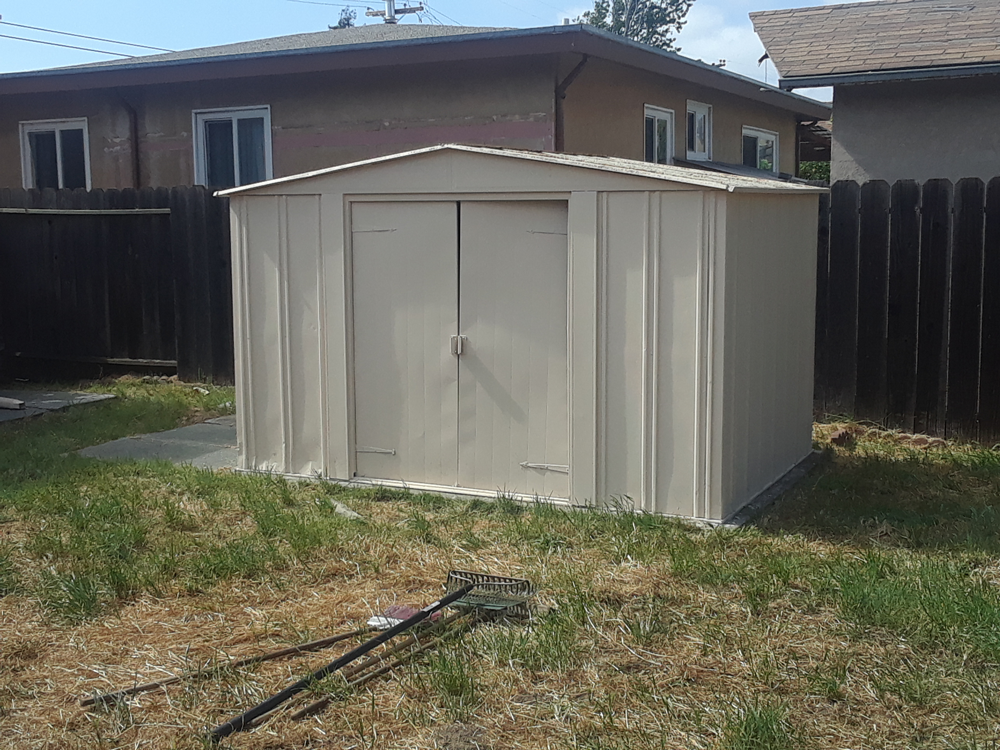 After | Exterior Metal Shed