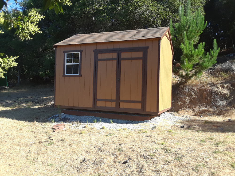 After | Exterior Shed Salinas, Ca