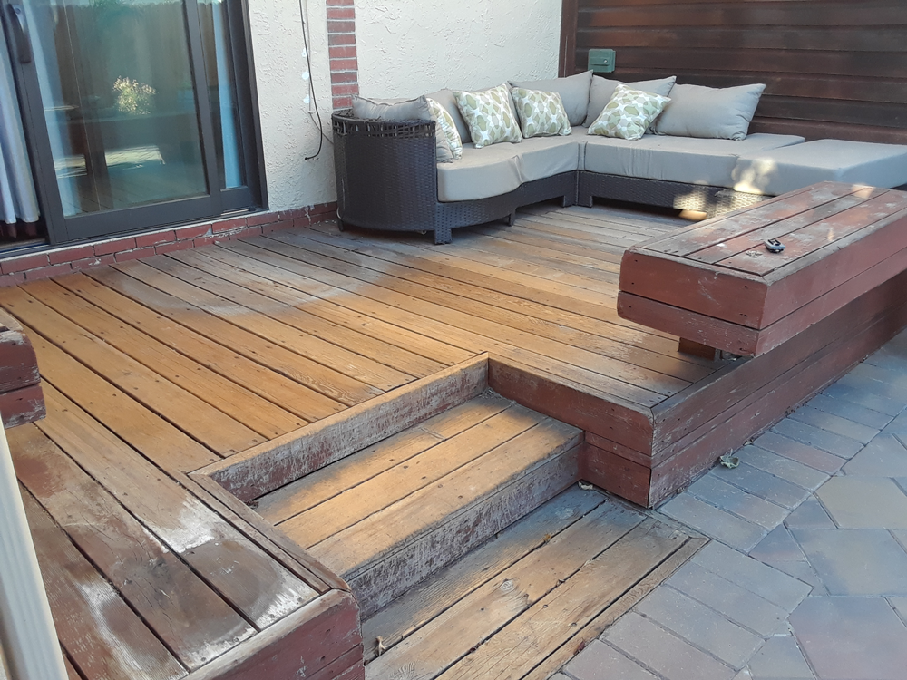 Before | Stain deck