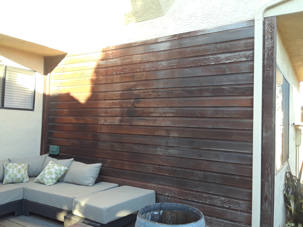 Before | Stain wall