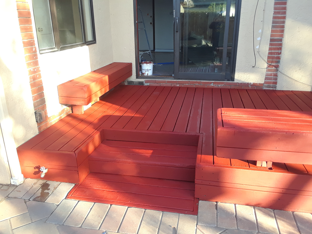 After | Stain deck