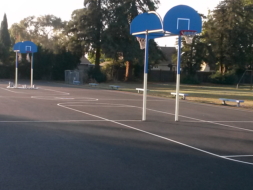 After | Basketball courts